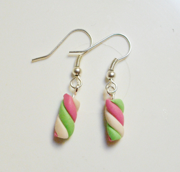 marshmallow earrings by sirilfiel
