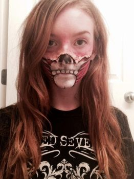 Skull/Muscle Face Paint by Crowwleys