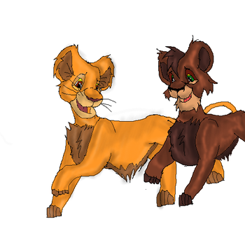 Kovu and Kiara by Ysalyn