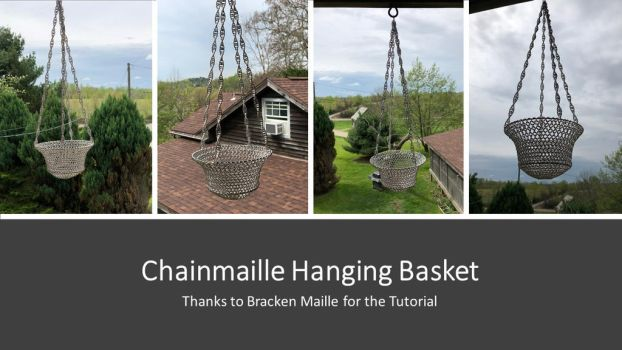 Chainmaille Hanging Basket by graywolfsmaille
