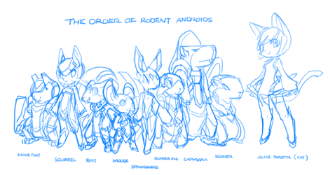 The order of rodent androids by TysonTan