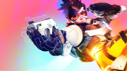 OVERWATCH / TRACER by derplight