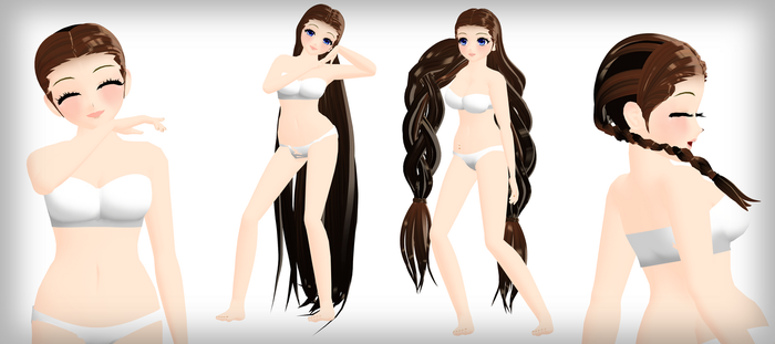 MMD AA2 Hair Pack DL by 2234083174