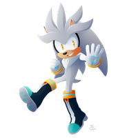 Collab:  Silver the Hedgehog by KaiThePhaux