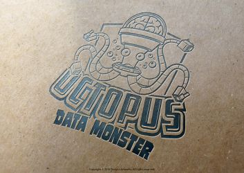 Octopus Data Monster Mascot Logo by TrexycaArtworks