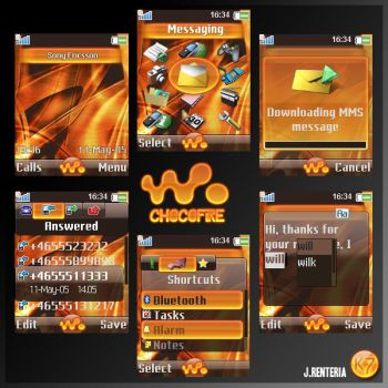 ChocoFire Sony Ericsson Theme by karmak7