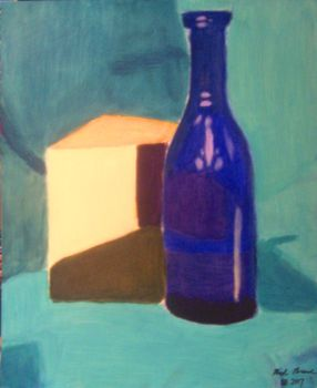 STILL LIFE #1: The Cube And The Bottle by gretzelboy89