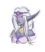 Nightborne Concept Doodle by Musing-Zero