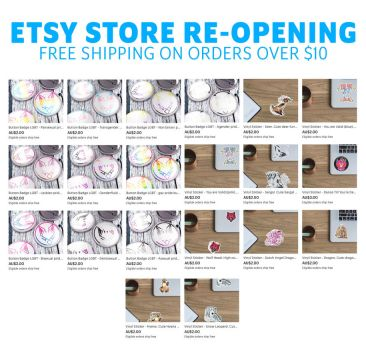 Etsy Store Reopening + Sale by Nethartic