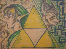 Zelda Sled 3: Link and Wolf by IndigoFlamingo