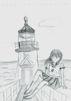 Sketch : Lighthouse by Shizuko-Akatsuki
