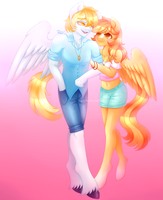 Com - White Feather and Serenity (+speedpaint) by x-Piiu