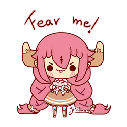 Fear the tiny cow by Frappuchii