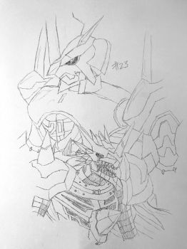 Digimon Sketch Challenge: Day #23 by Omnimon1996