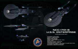Excelsior Refit ortho - USS Enterprise B by unusualsuspex