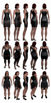 Mass Effect 3, Female Shepard Dress Reference. by Troodon80