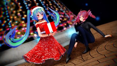 Here Is Your Gift - CONTEST Fukka-san - MMD by Melo-chaan