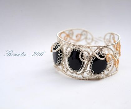 Bound by Hades - Bangle Bracelet by DreamsOfGems