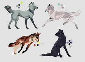 Canine Adoptable Batch 1 -CLOSED- by wolfkittyadopts