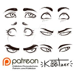 Eyes reference sheet 2 by Kibbitzer