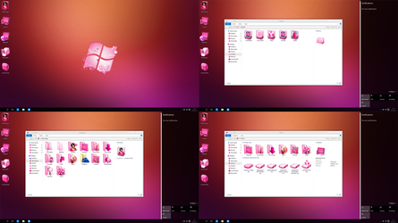 Windows 10 Lady Pink edition 2015 preview by Moonnique