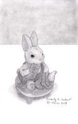 Bunny Figurine by LuckyNumber113