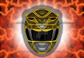 Yellow Ranger(mighty morphin) by blueliberty