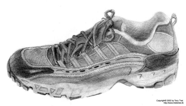 Shoe drawing by midiman