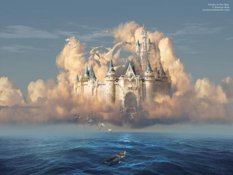 Castle in the Sky or Clouds of Shattered Dreams by artsgr1e