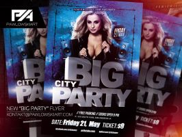 BIG PARTY Flyer Template by pawlowskiart