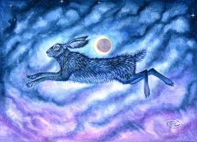 Moon Hare by KettleQuill