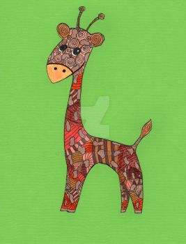 Zentangle Giraffe022 by ccbluuart