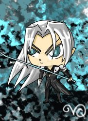 Sephiroth Chibi by QueenLionz