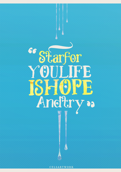[ 29/2/2016 - Typographic ] HOPE AND TRY by SaeStoos153