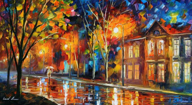 When the city sleeps by Leonid Afremov by Leonidafremov