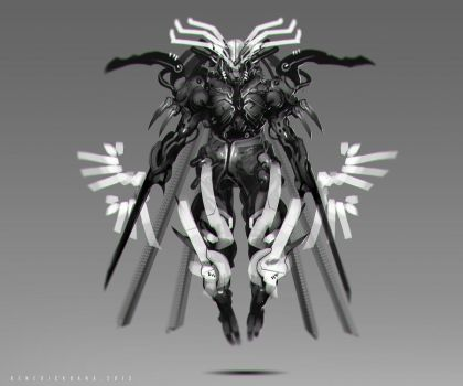Dark Claw final_Black and white Ver. by benedickbana