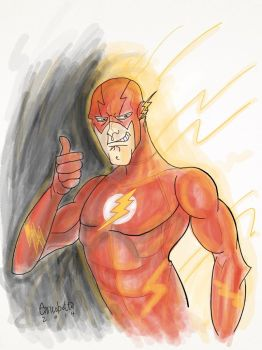 The Flash iPad Painting by enricobotta