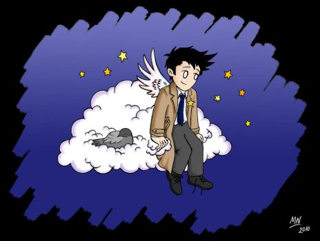 Cas: Guardian Angel by blackbirdrose