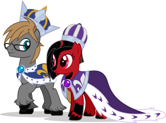 Glowditor - King and Queen (COMMISH) by MLP-TrailGrazer
