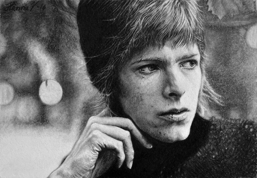 David Bowie - Pencil Drawing by TittiTuulia