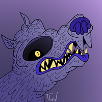 Wolf with A big Eye socket by ThermalTheorist