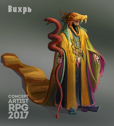 ConceptartistRPG #13: The Shaman by XGingerWR