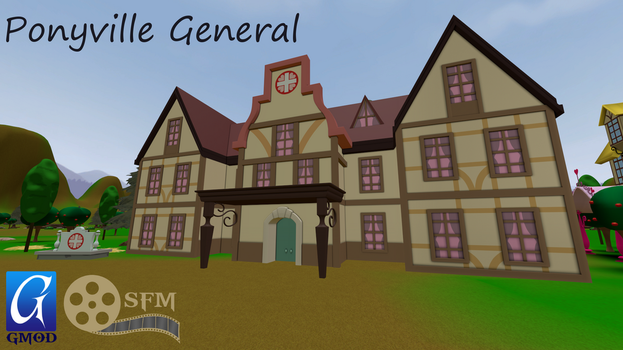 (DL)(SFM)(GMOD) Ponyville General Building by Dracagon