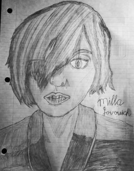 Sketch Drawing - Milla jovovich by TheRocketterGhost