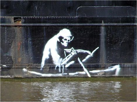 Bansky : The death on a boat by Technae