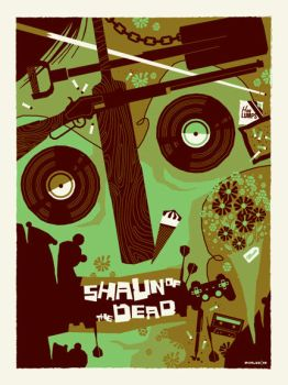 shaun of the dead poster by strongstuff