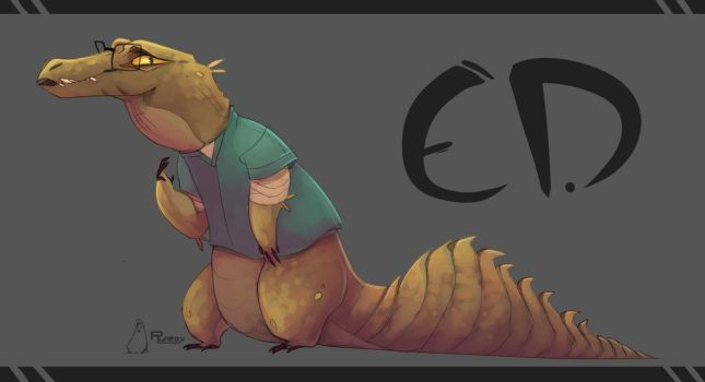 Ed the Crocco by RuneaxDoodles