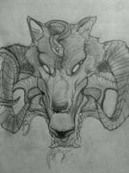 Sheep In Wolf's Clothing WIP by krutch99