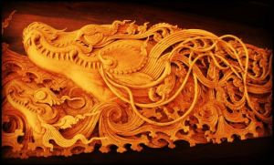 Dragon Wall Carving by cyberlism7