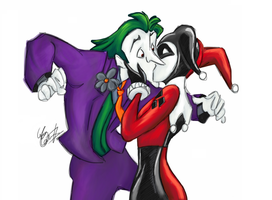 Joker and Harley- Recolour by cattybonbon